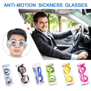 1PC Multicolored Anti-motion Sickness Glasses Smart Seasick Airsick Lensless Detachable Folding Portable Sports Travel Glasses