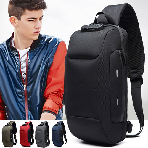 2019 Hot Sale Anti-theft Backpack With 3-Digit Lock Shoulder Bag Waterproof for Mobile Phone Travel MSJ99
