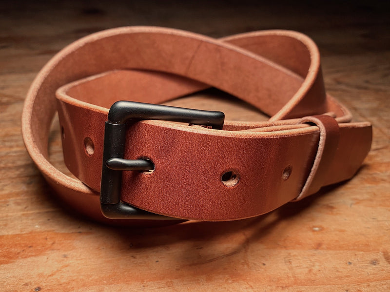 Ashfield Belt with a solid brass buckle in Black PVD finish