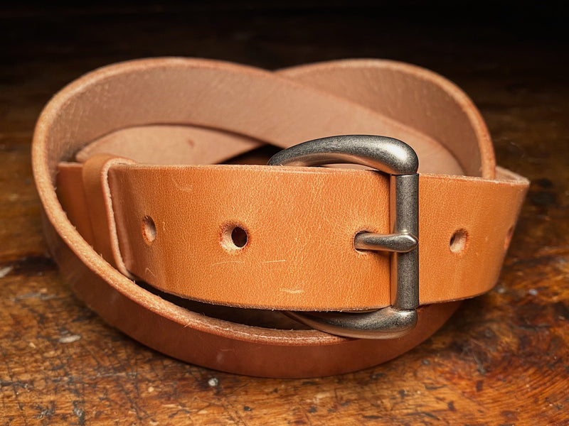 Knotted ashfield belt in russet harness veg tan