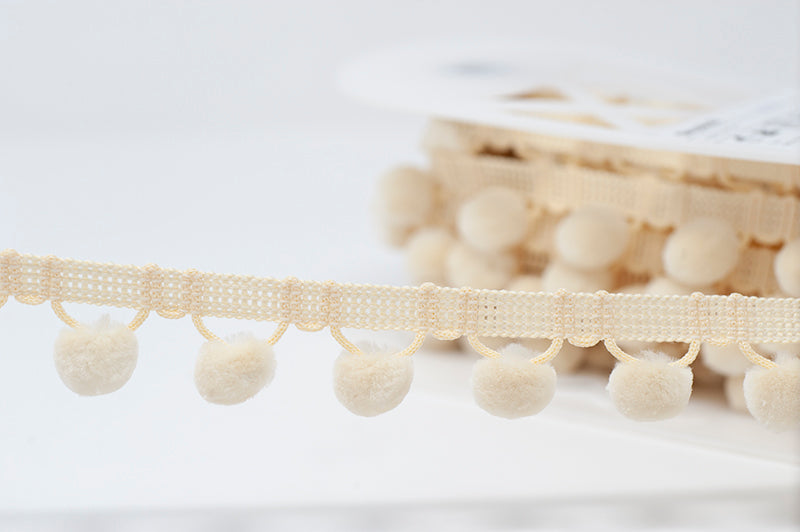 28mm Pom Pom Trim - Cream