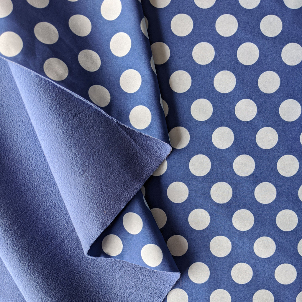 Spotty Waterproof Soft Shell - Blue