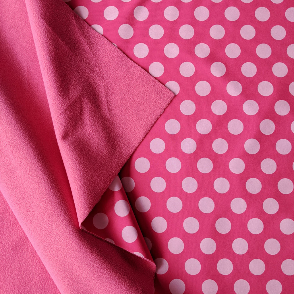 Spotty Waterproof Soft Shell - Pink