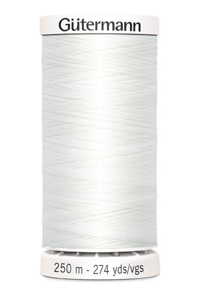 Gutermann Sew All Thread 250m - White