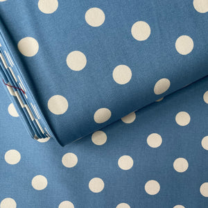 Spotty Blue Cotton Duck