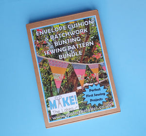 Make! The Lakes - Envelope Cushion & Patchwork Bunting Paper Pattern Bundle