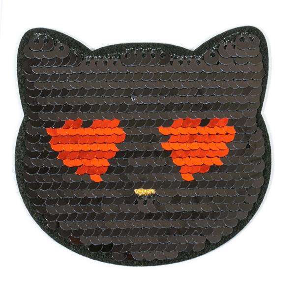 Iron on Motif - Flip Sequin Cat