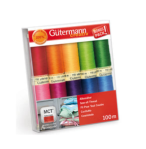 Gutermann Sew All Set - Rainbow Brights