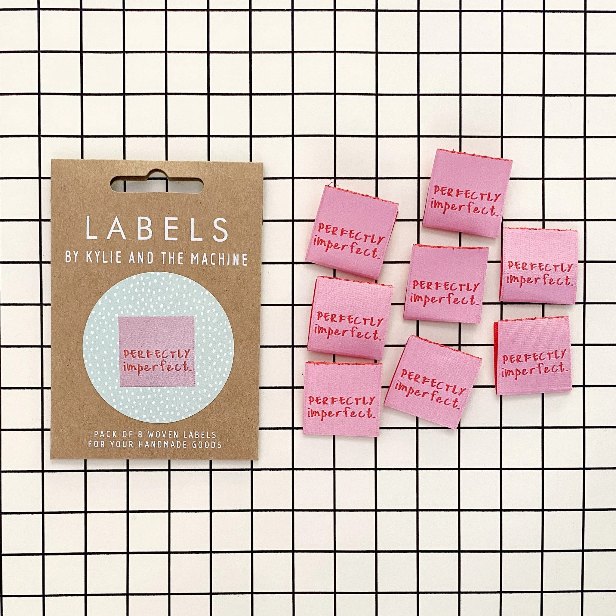 Kylie & The Machine - Perfectly Imperfect - Woven Labels 8 Pack
