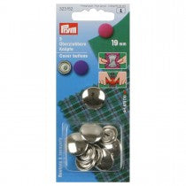 Prym Cover Buttons - Silver - 19mm