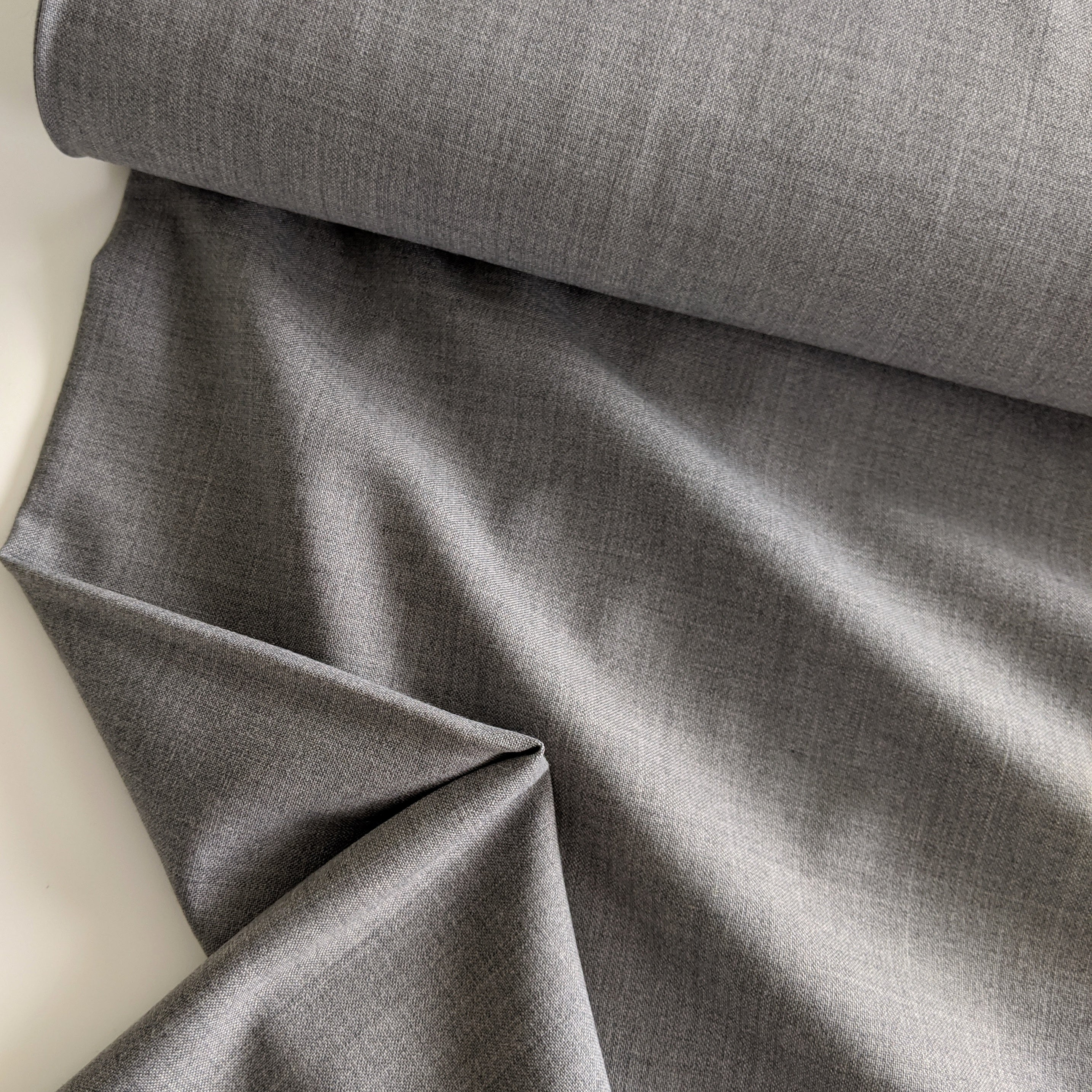 Silver Wool Blend Suiting
