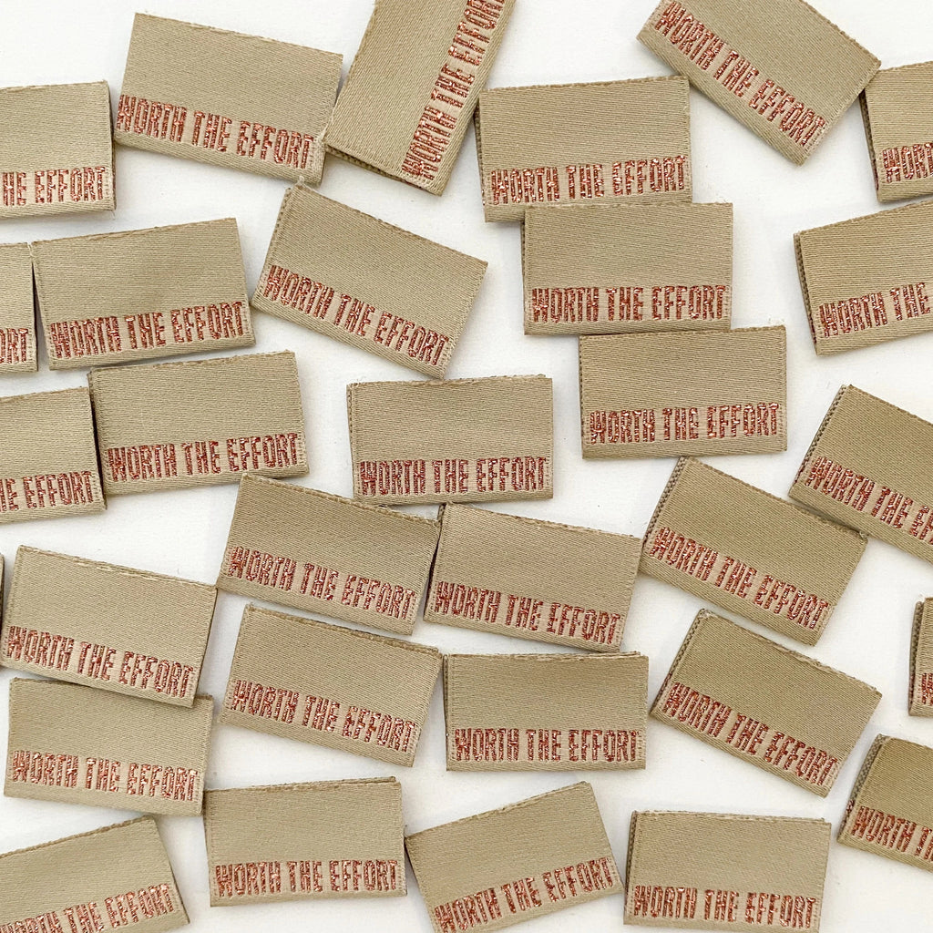 Kylie & The Machine - Worth The Effort - Woven Labels 8 Pack