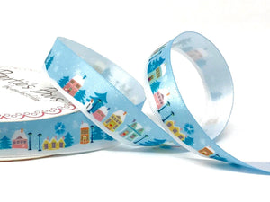 Bertie's Bows Daytime Village Scene 16mm Ribbon - 3 Metre Reel
