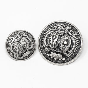Metal Shanked Buttons - Coat of Arms