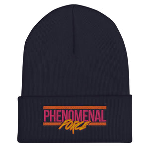 Phenomenal Force (Orange/Pink/Yellow) Embroidered Cuffed Beanie