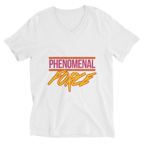 Phenomenal Force (Orange/Pink/Yellow) Unisex Short Sleeve V-Neck T-Shirt