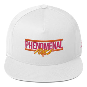 Phenomenal Force (Orange/Pink/Yellow) Embroidered Flat Bill Cap