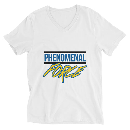 Phenomenal Force (Black/Blue/Yellow) Unisex Short Sleeve V-Neck T-Shirt