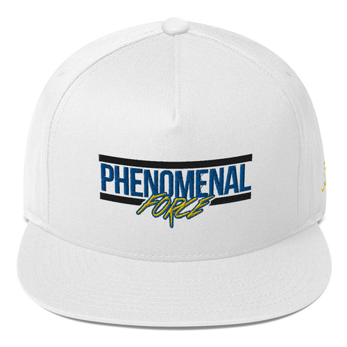 Phenomenal Force (Black/Blue/Yellow) Embroidered Flat Bill Cap