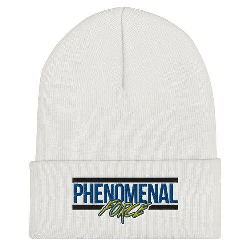 Phenomenal Force (Black/Blue/Yellow) Embroidered Cuffed Beanie