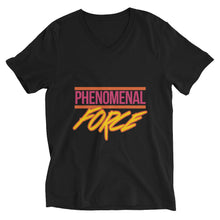 Load image into Gallery viewer, Phenomenal Force (Orange/Pink/Yellow) Unisex Short Sleeve V-Neck T-Shirt