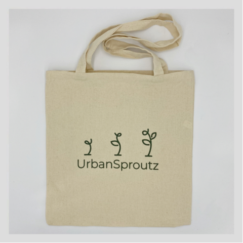 Sustainable, earth-friendly tote bag for groceries! Start growing Microgreens in Singapore today!