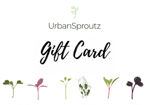UrbanSproutz Gift Card - organic microgreens seeds in Singapore