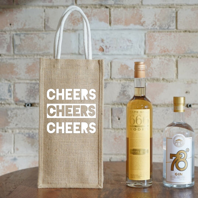 Two Bottle Bag - 3 Cheers (2 pcs/set)