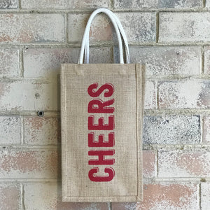 Two Bottle Bag - Cheers Big Ears  (2 pcs/set)