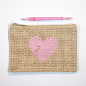 Handy Zip Pouch - Scribbly Heart