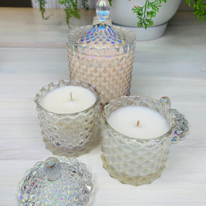 Cut Glass Wedding Favour Hand Poured Candles