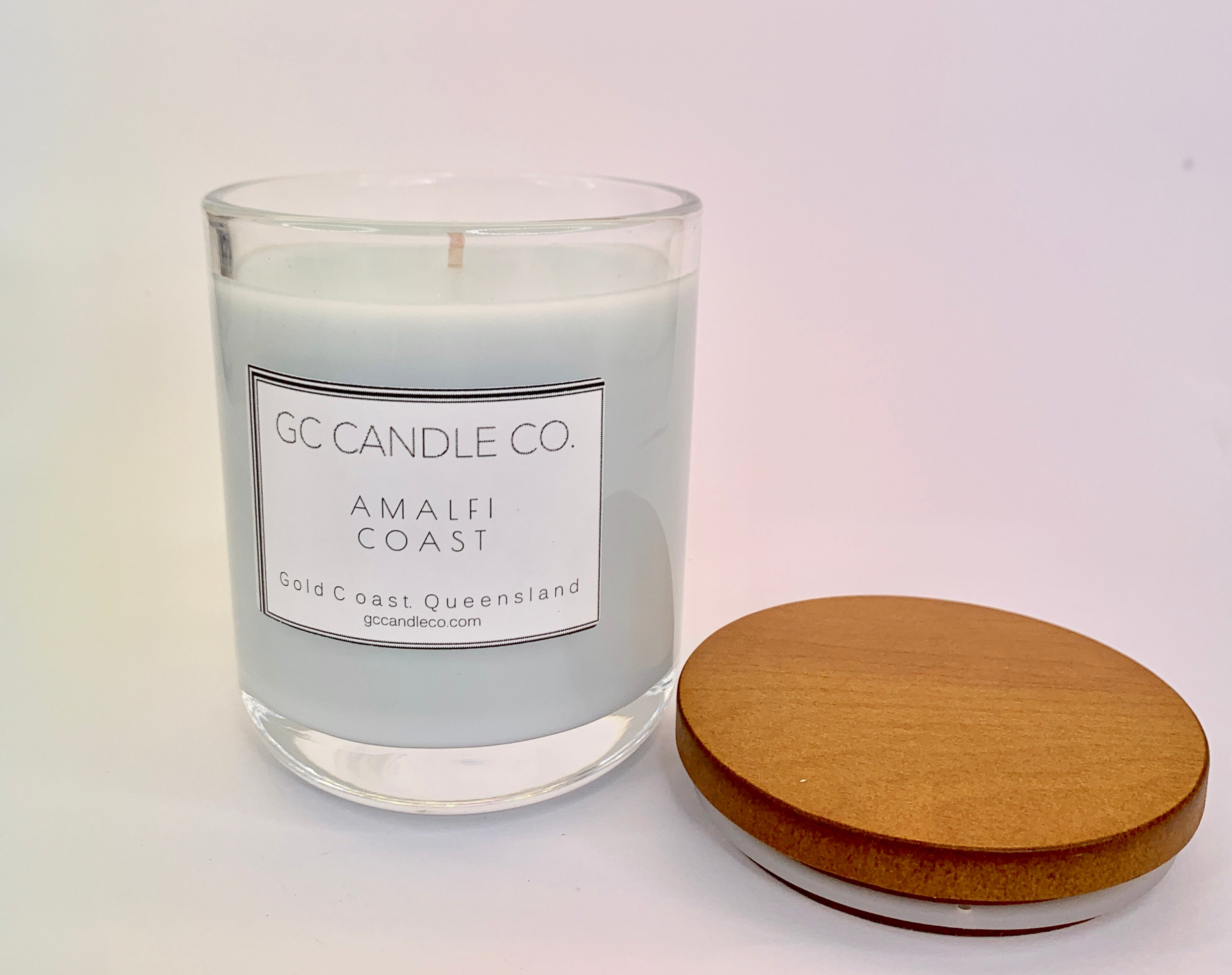 Pale Blue Coloured Wax All Natural Candle