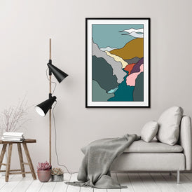 Plakat LAND OF ESCAPE WINTER - WATER - 50X70 CM