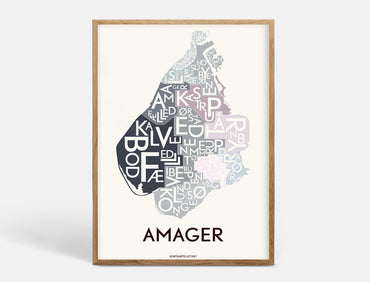 Plakat 50x70 CM - AMAGER - SPECIAL EDITION