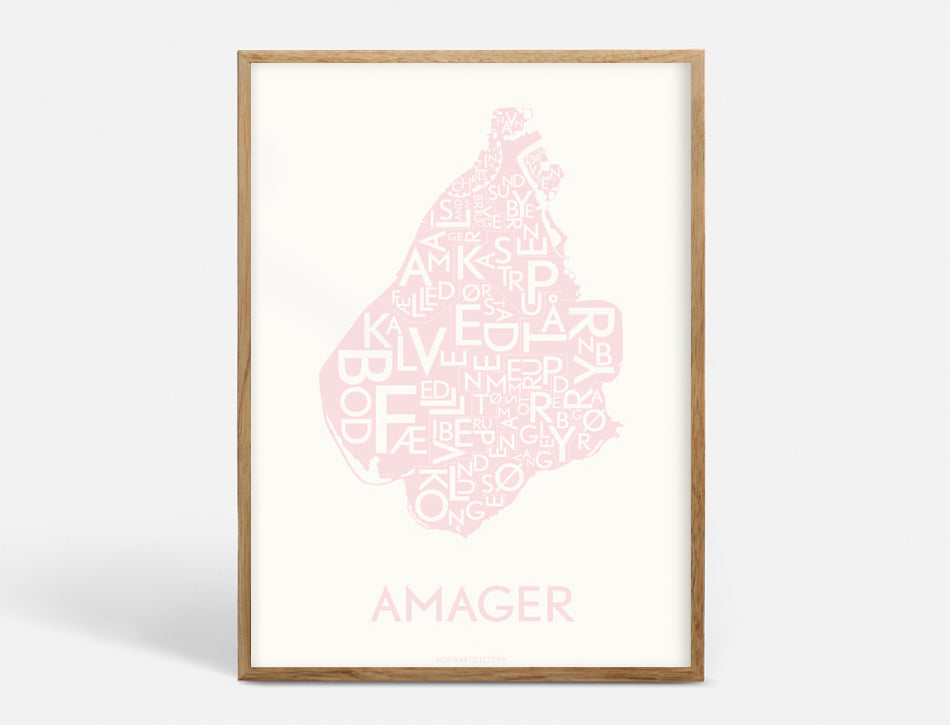 AMAGER - DUSTY PINK - 50x70 CM