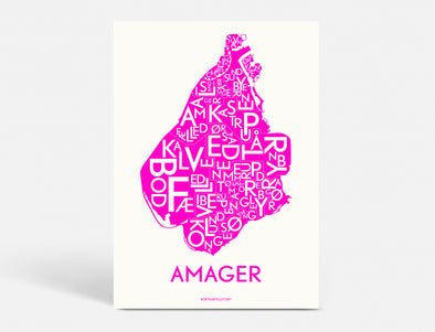 plakat amager pink