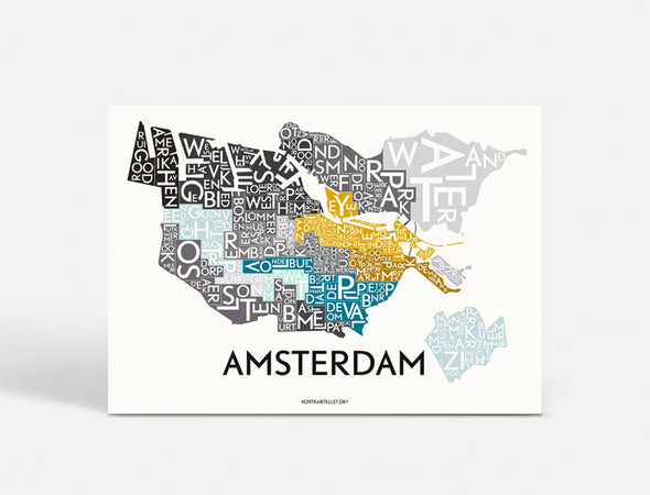 Plakat  70x50 CM - AMSTERDAM - SPECIAL EDITION