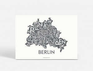 Plakat BERLIN - DARK GREY - 70x50