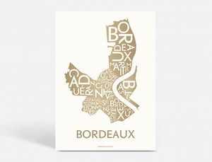 BORDEAUX - DARK GOLD - 50x70 CM
