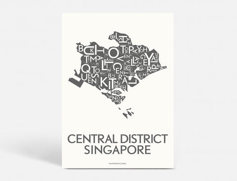 CENTRAL DISTRICT SINGAPORE - DARK GREY - A5