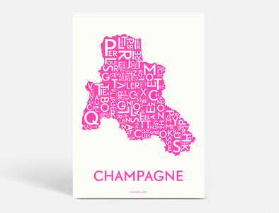 A5 - CHAMPAGNE - NEON PINK