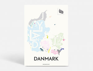 DANMARK - SPECIAL EDITION - 40x55 CM
