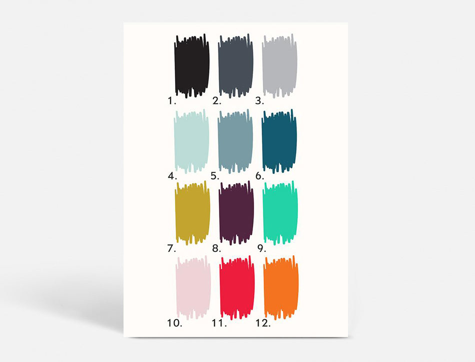 Plakat POSTER - CHOOSE YOUR OWN COLOUR - 40x55 CM