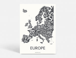 EUROPE - DARK GREY - 50x70 CM