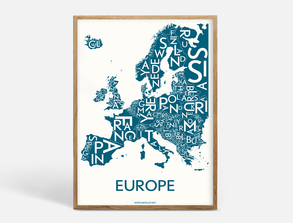 EUROPE - PETROL BLUE - 50x70 CM