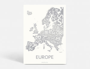 EUROPE - MATTE SILVER METALLIC - 40x55 CM