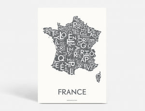 FRANCE - DARK GREY - 50x70 CM