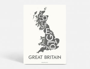 GREAT BRITAIN - DARK GREY - 50x70 CM