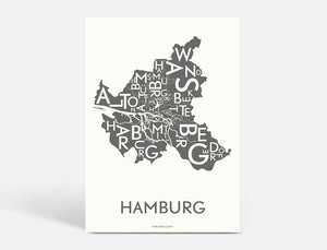 HAMBURG - DARK GREY - 50x70 CM