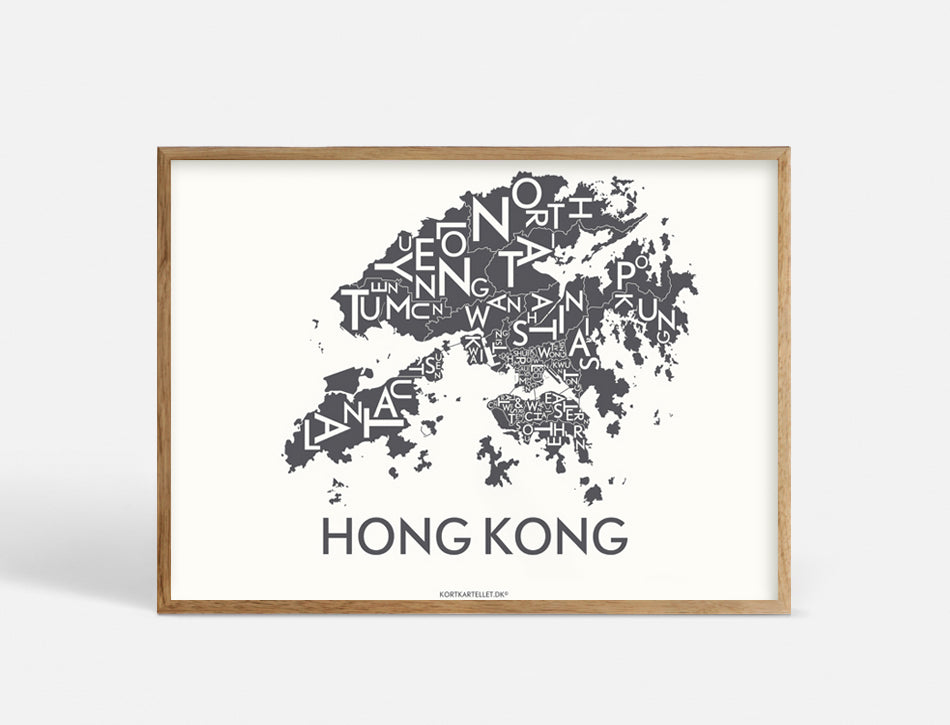 HONG KONG - DARK GREY - 70x50 CM